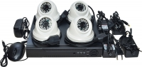 Готовый комплект видеонаблюдения на 4 антивандальные камеры