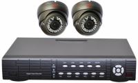 Готовый комплект видеонаблюдения на 2 антивандальные камеры
